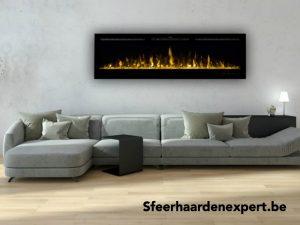 Lange elektrische TV inbouw sfeerhaard 183cm met verwarming