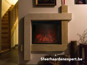 Large fireplace Groote elektrische inbouw sfeerhaard en kachel